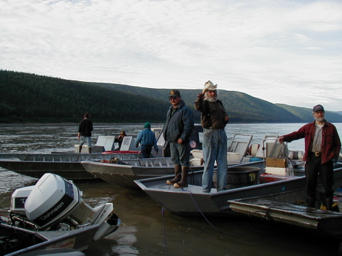 Commercial fishing day at Rapids